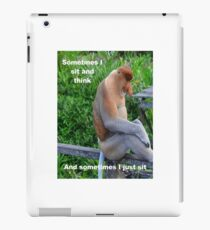 Proboscis Monkey maybe Thinking iPad Case/Skin