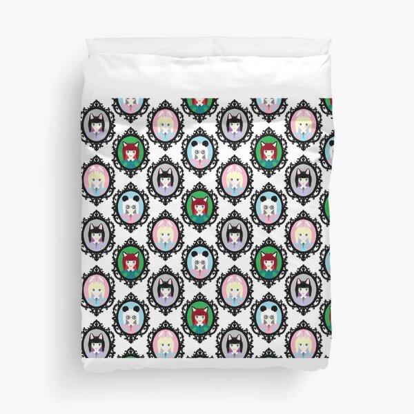 Kawaii Cosplay Girl - Bunny, Fox, Panda & Cat Duvet Cover