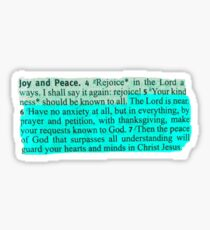 BIBLE VERSE   Philippians 4:6 blue Sticker