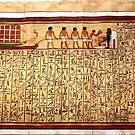 Hieroglyphics on papyrus by annalisa bianchetti