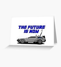 back to the future delorean car movie film retro vintage Greeting Card