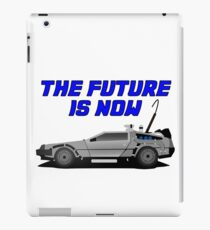 back to the future delorean car movie film retro vintage iPad Case/Skin