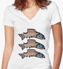 Upstream Swim Women's Fitted V-Neck T-Shirt