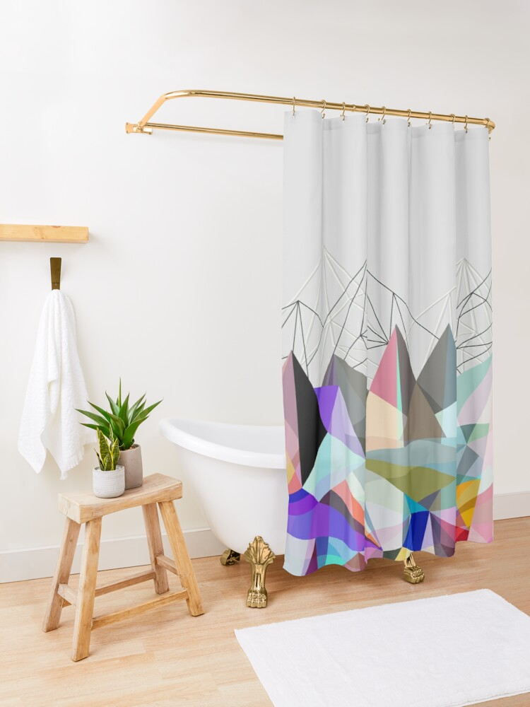 Alternate view of Colorflash 3 Shower Curtain