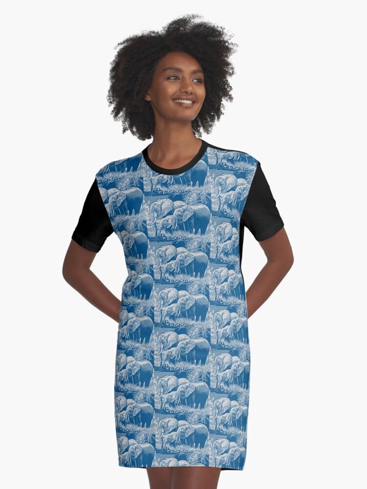 ELEPHANTS Graphic T-Shirt Dress Front