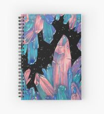 Crystal Clusters Spiral Notebook