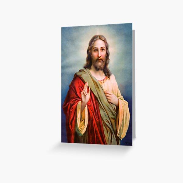 Jesus Blessing Religion Love Christ Catholic Christian Greeting Card