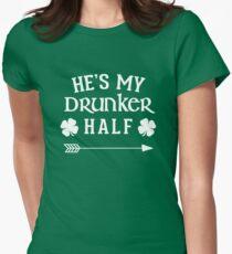 He's My Drunker Half Shirt Womens Fitted T-Shirt
