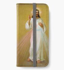 Jesus Christ Blessing Religion Catholic Love Faith I Believe iPhone Wallet