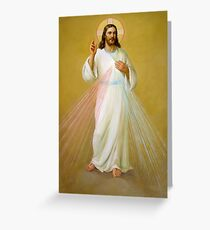 Jesus Christ Blessing Religion Catholic Love Faith I Believe Greeting Card