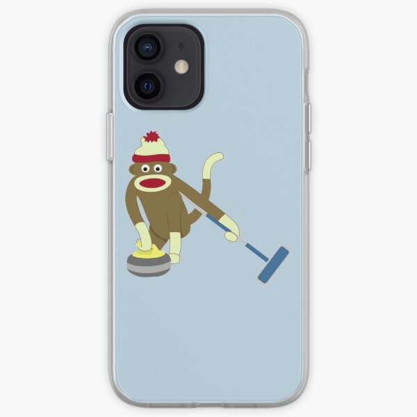 Sock Monkey Curling iPhone Soft Case
