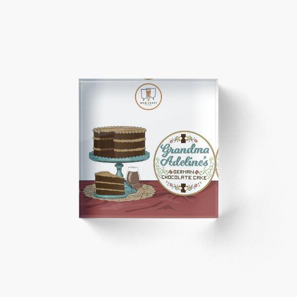 Grandma Adeline's German Chocolate Cake Acrylic Block