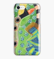 Curves and Patterns with one Red Light Bulb  iPhone Case/Skin