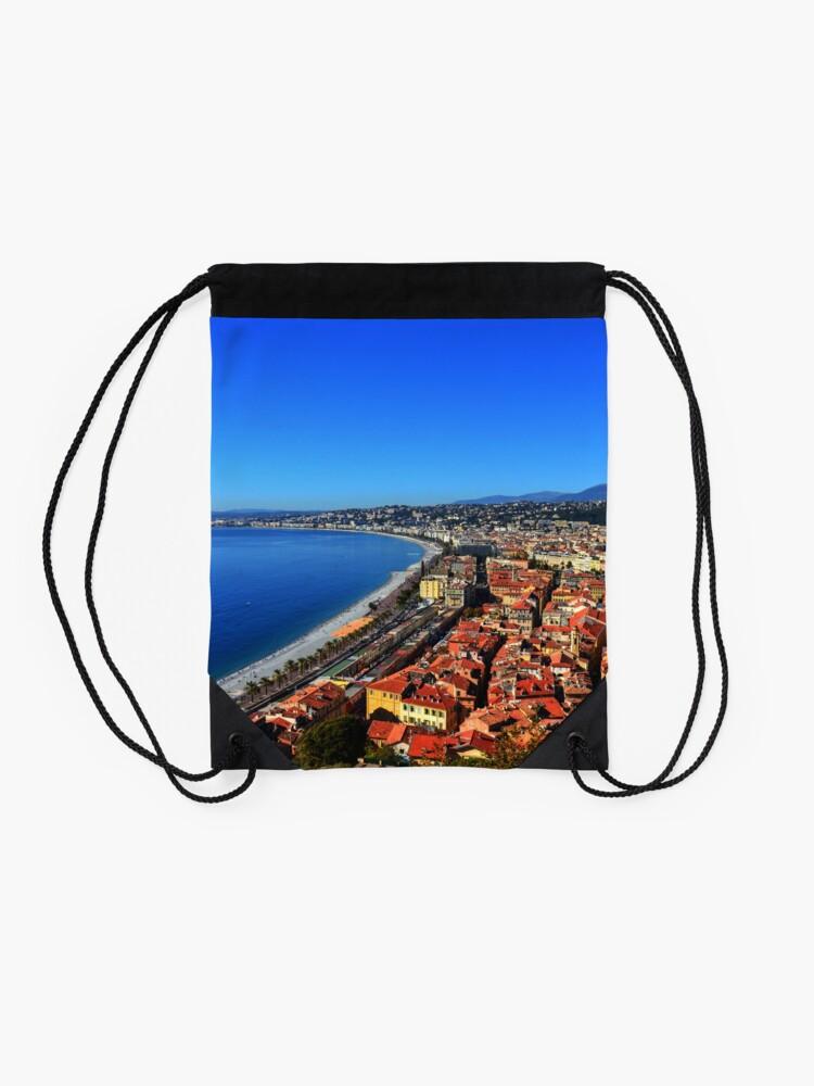 Alternate view of Nice France Drawstring Bag