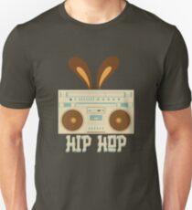 Hip Hop Rabbit Ears Boombox Unisex T-Shirt