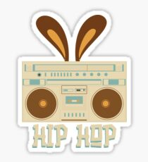 Hip Hop Rabbit Ears Boombox Sticker