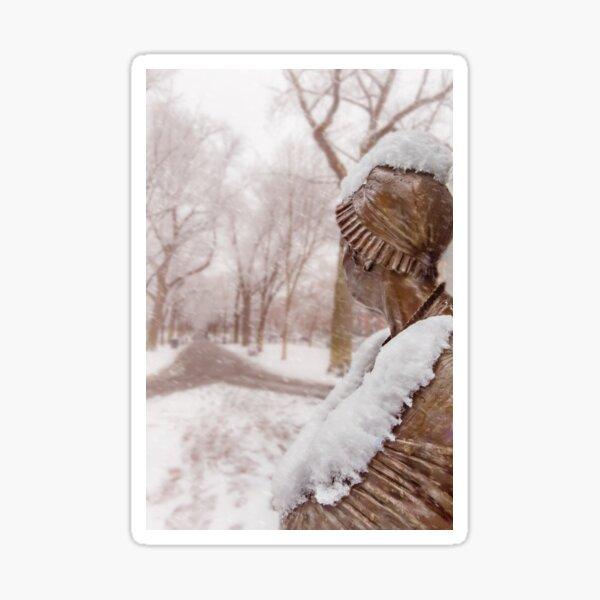 Abigail's snowbound view Sticker