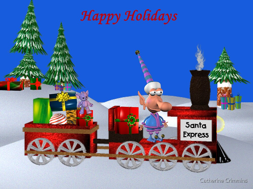 santa's train by Catherine Crimmins
