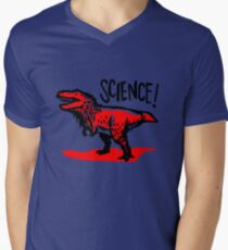 Tyrannosaurus rex loves science! Men's V-Neck T-Shirt