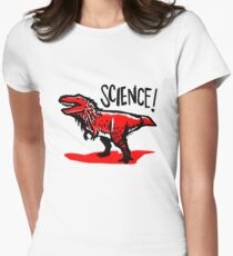 Tyrannosaurus rex loves science! Women's Fitted T-Shirt