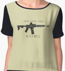 Pew and Chill  Chiffon Top