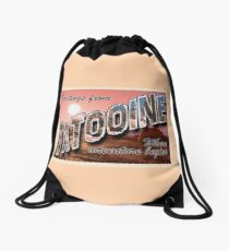 Tatooine Postcard Drawstring Bag
