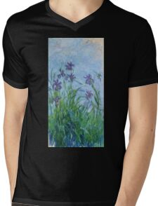 Claude Monet - Lilac Irises, 1914 Mens V-Neck T-Shirt