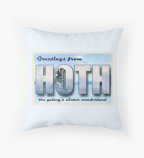 Hoth Postcard Throw Pillow
