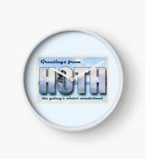 Hoth Postcard Clock