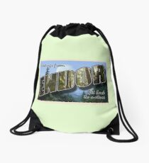 Endor Postcard Drawstring Bag