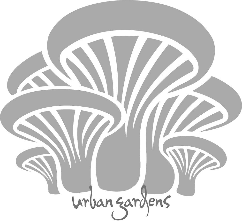 Oyster Mushroom Cluster, Gray, by Urban Gardens by urbangardens