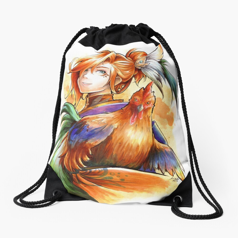 Year of the Rooster Drawstring Bag