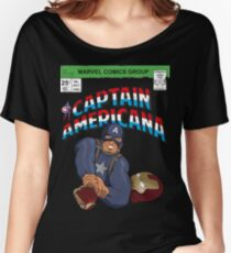 CAPTAIN AMERICANA Women's Relaxed Fit T-Shirt