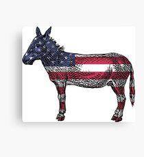 Democrats Donkey Canvas Print