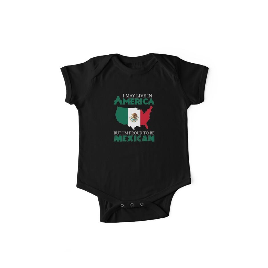 96225d6a3 Body de manga corta para bebé «Orgulloso de ser mexicano» de ...