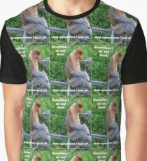 Proboscis Monkey maybe Thinking Graphic T-Shirt