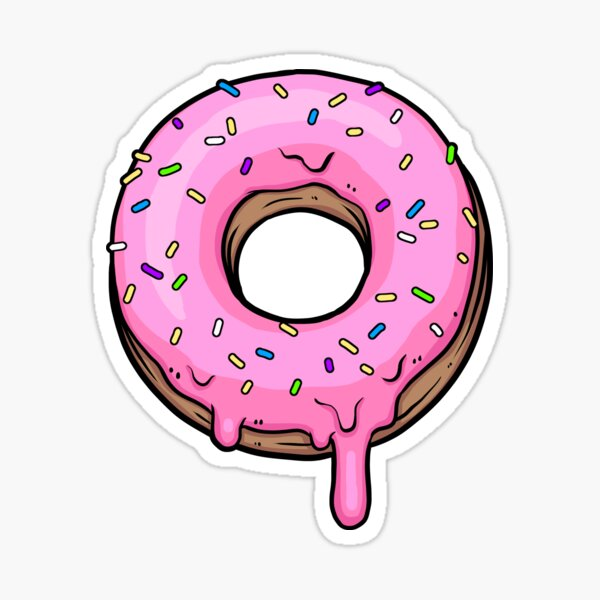Nuts for Donuts! Sticker