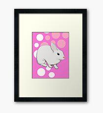 Osterhasen-Kaninchen-Rosa Gerahmtes Wandbild