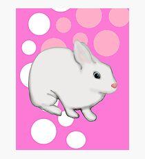 Osterhasen-Kaninchen-Rosa Fotodruck