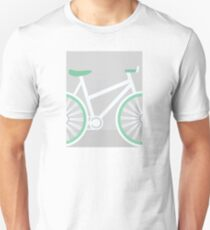 Vintage Minimalist Cycling Art - Road Bike Unisex T-Shirt
