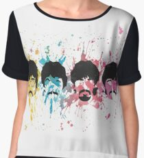Watercolor Sgt. Pepper's Design Chiffon Top