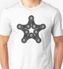 Bike Chain Star - Cycling All Stars Unisex T-Shirt