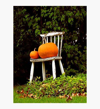 Pumpkin Throne Photographic Print