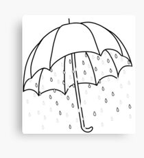 Ironic Umbrella  Canvas Print