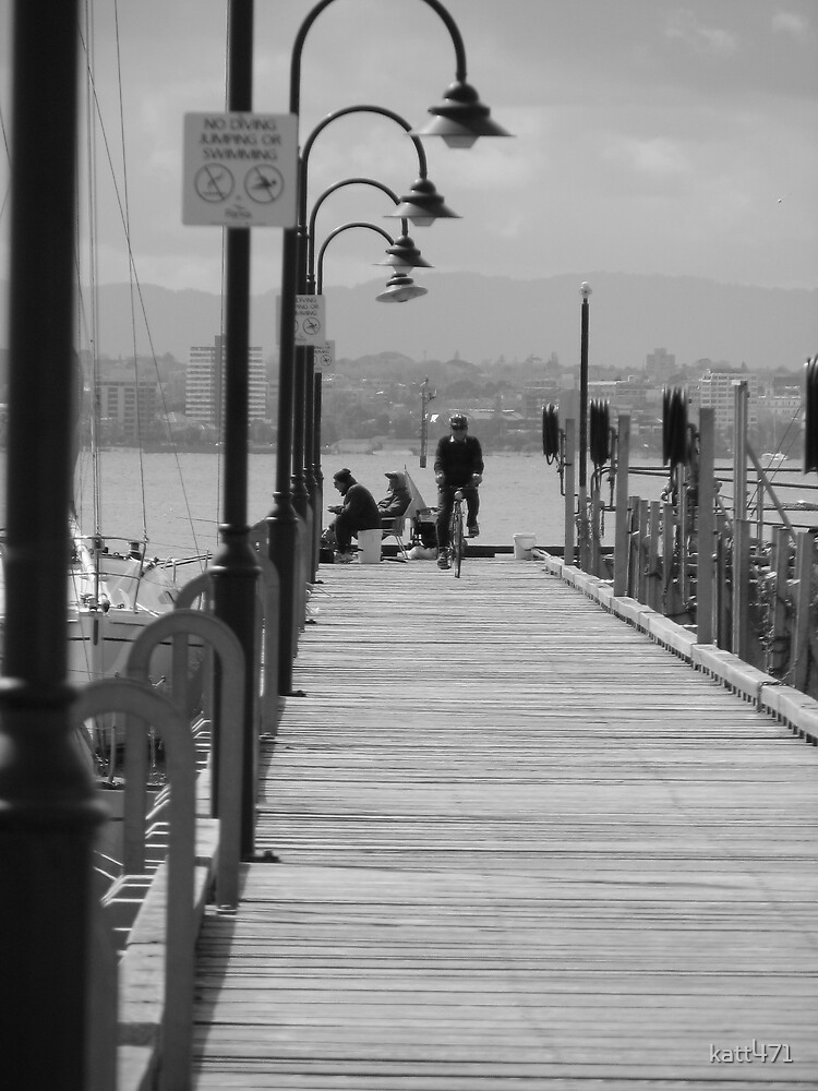 cycling on the pier by katt471