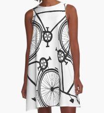 cycling infinity - vintage keep biking - bike triforce pattern A-Line Dress