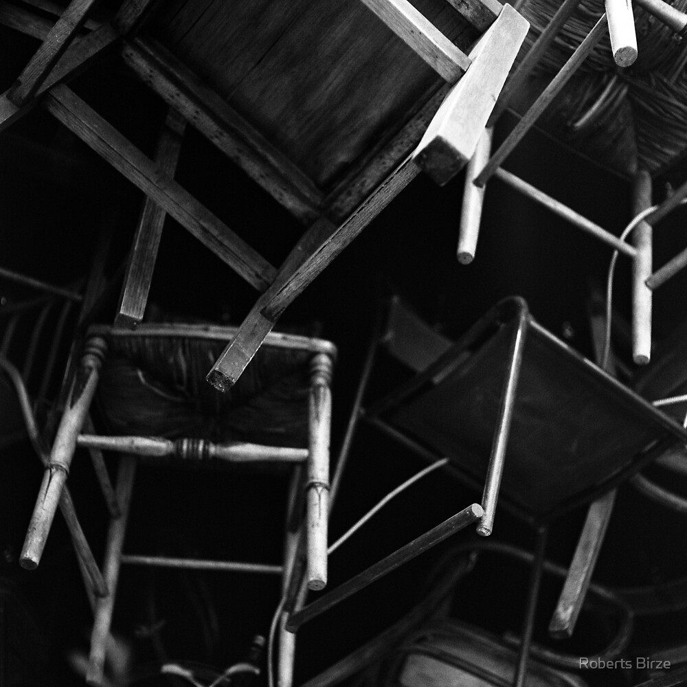 a flock of chairs by Roberts Birze