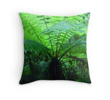 Forest Fronds Throw Pillow