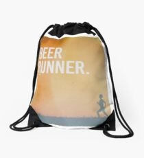 beer runner Drawstring Bag