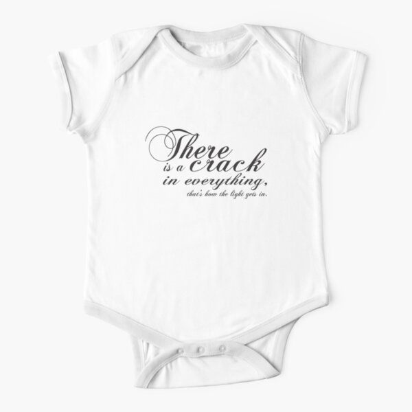 there is a crack Short Sleeve Baby One-Piece